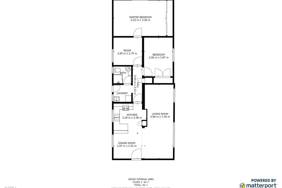 Floorplan of Homely house listing, 9 Mead Street, Merbein VIC 3505