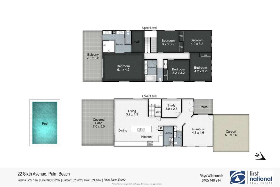 Floorplan of Homely house listing, 22 Sixth Avenue, Palm Beach QLD 4221