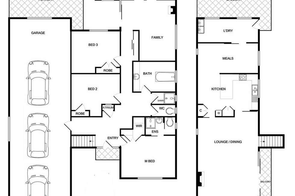 Floorplan of Homely house listing, 25 Osburn Street, Wodonga VIC 3690