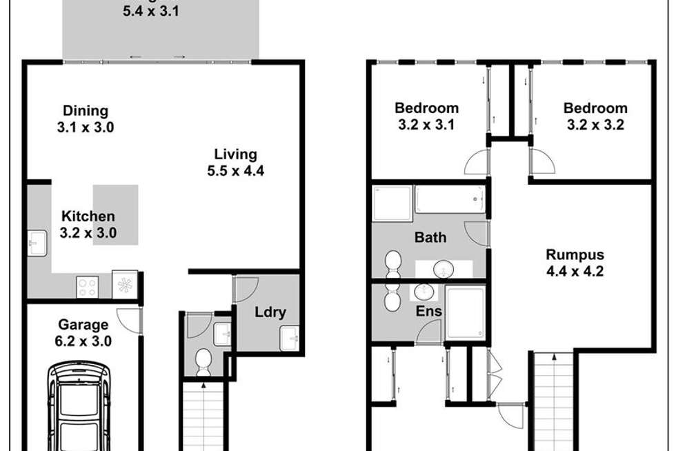 Floorplan of Homely semiDetached listing, 64 Rutherford Avenue, Kellyville NSW 2155