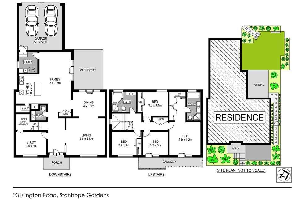 Floorplan of Homely house listing, 23 Islington Road, Stanhope Gardens NSW 2768