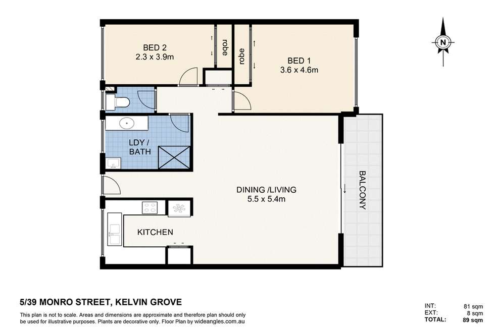 Floorplan of Homely apartment listing, 5/39 Monro Street, Kelvin Grove QLD 4059