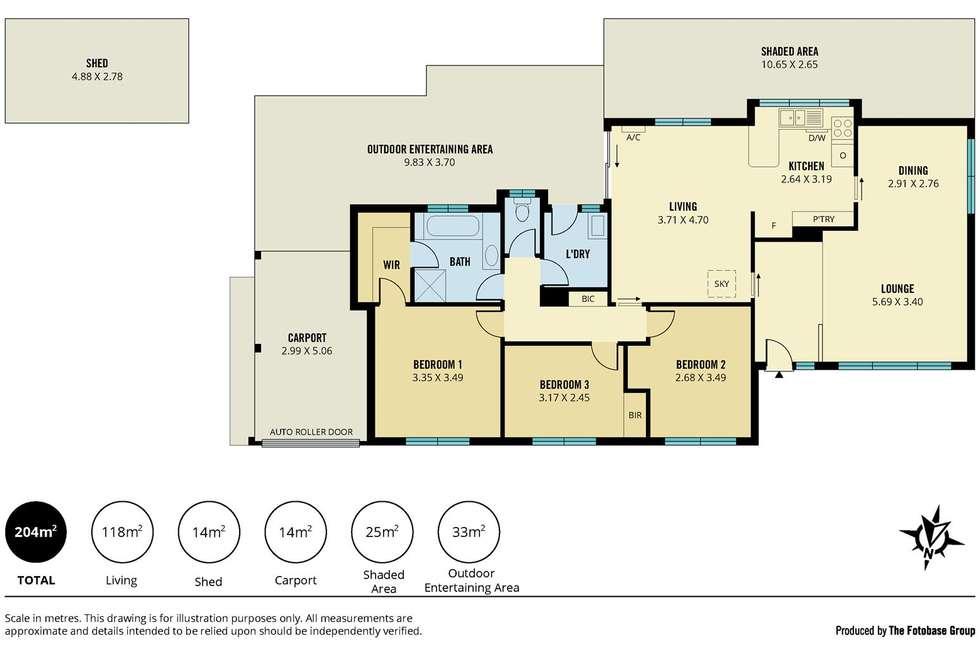 Floorplan of Homely house listing, 17 Sarnia Farm Road, St Agnes SA 5097