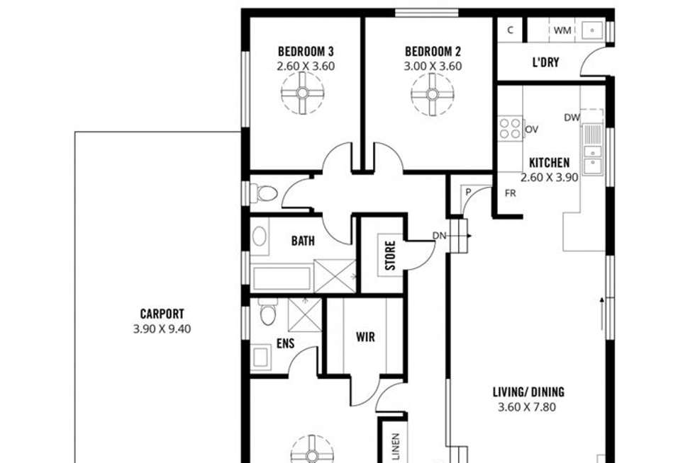 Floorplan of Homely house listing, 14 Hesperus Street, Hallett Cove SA 5158