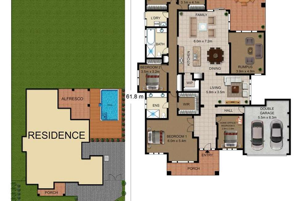 Floorplan of Homely house listing, 63 Fernadell Drive, Pitt Town NSW 2756