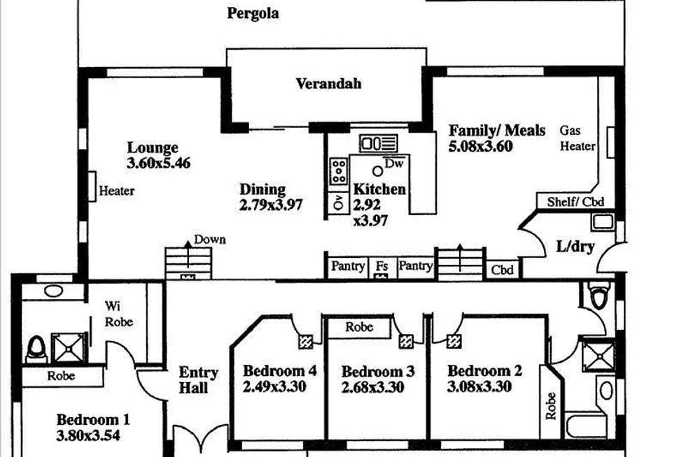 Floorplan of Homely house listing, 1 Karkoo Street, Seaview Downs SA 5049