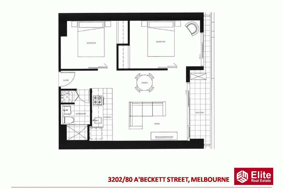 Floorplan of Homely apartment listing, 3202/80 A'BECKETT STREET, Melbourne VIC 3000