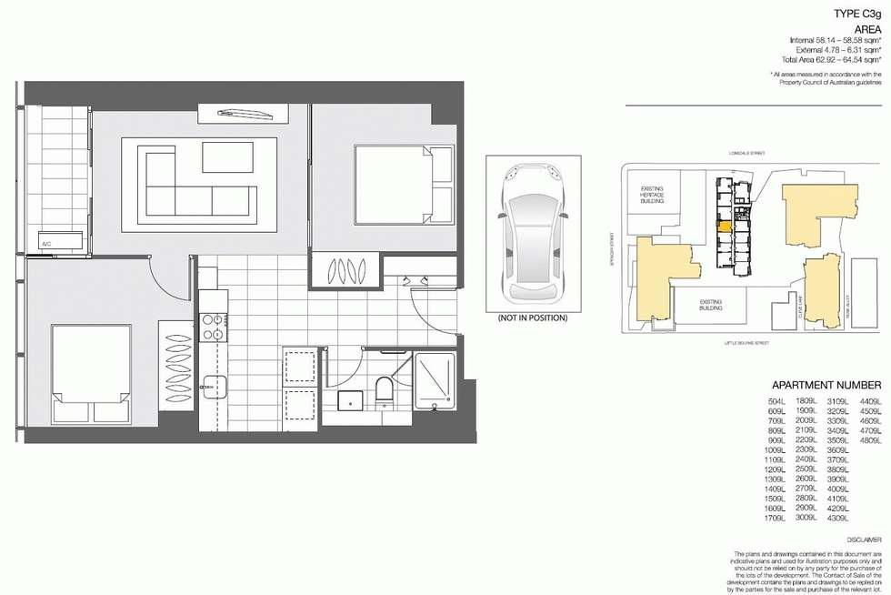 Floorplan of Homely apartment listing, 4109/639 LONSDALE STREET, Melbourne VIC 3000