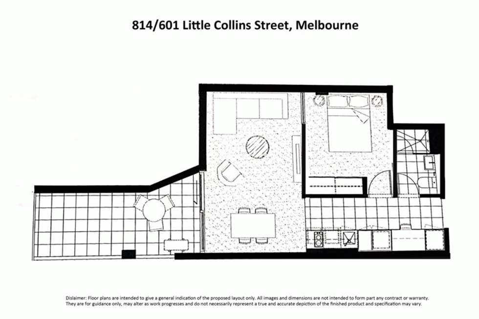 Floorplan of Homely apartment listing, 814/601 LITTLE COLLINS STREET, Melbourne VIC 3000