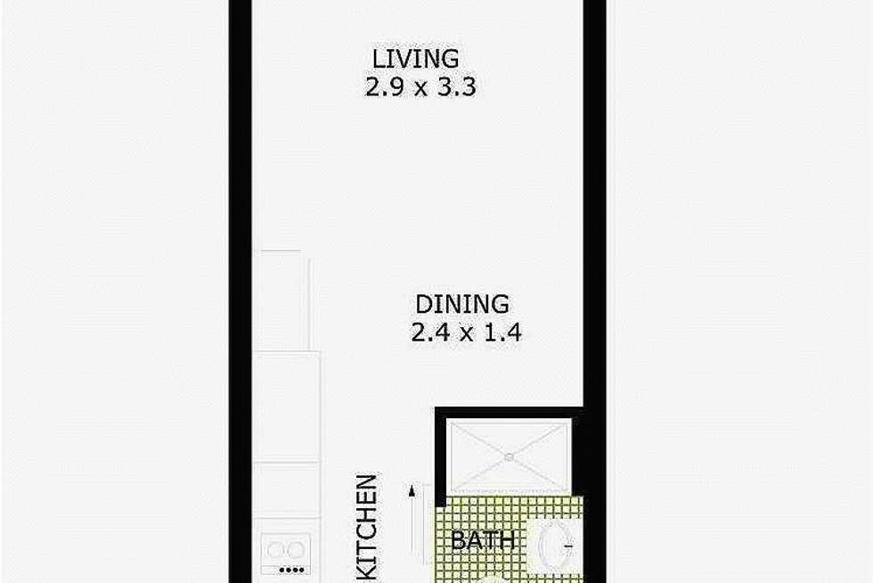 Floorplan of Homely apartment listing, 2610/181 A'BECKETT STREET, Melbourne VIC 3000