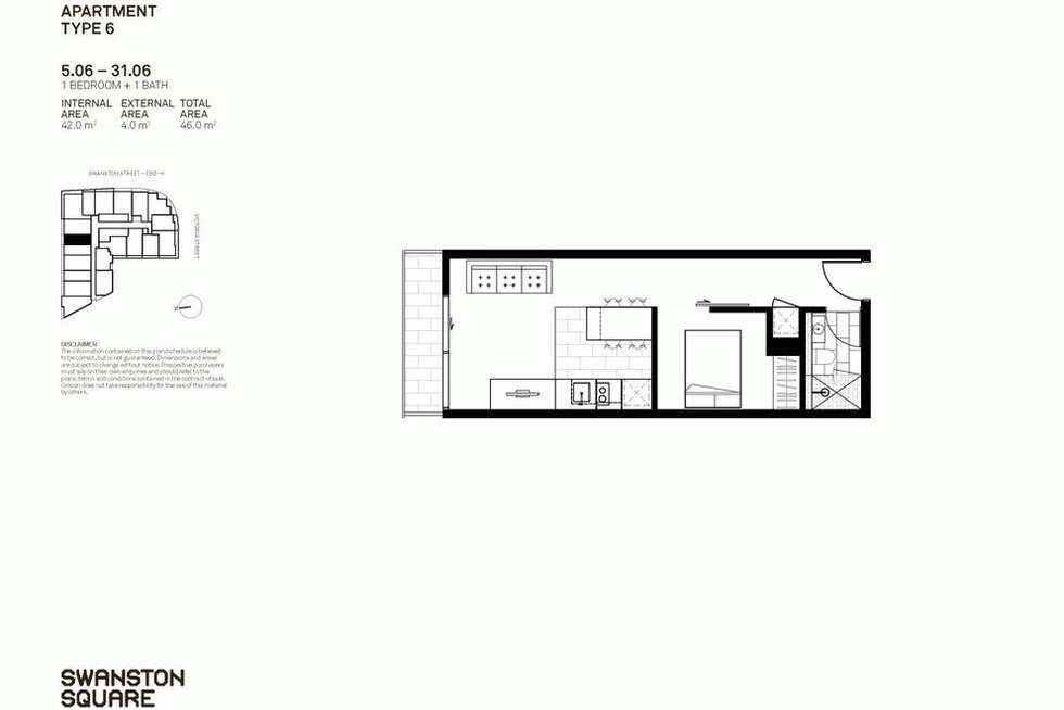 Floorplan of Homely apartment listing, 706/551 SWANSTON STREET, Carlton VIC 3053
