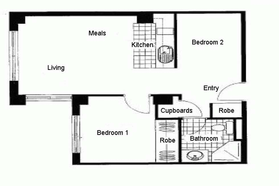 Floorplan of Homely apartment listing, 211/339 SWANSTON STREET, Melbourne VIC 3000