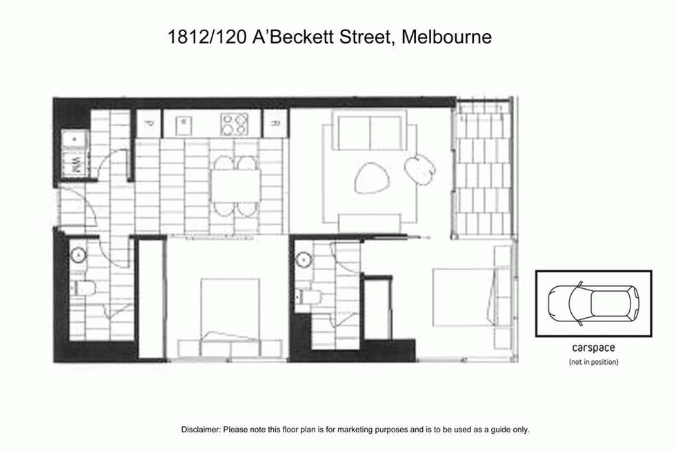 Floorplan of Homely apartment listing, 1812/120 A'BECKETT STREET, Melbourne VIC 3000