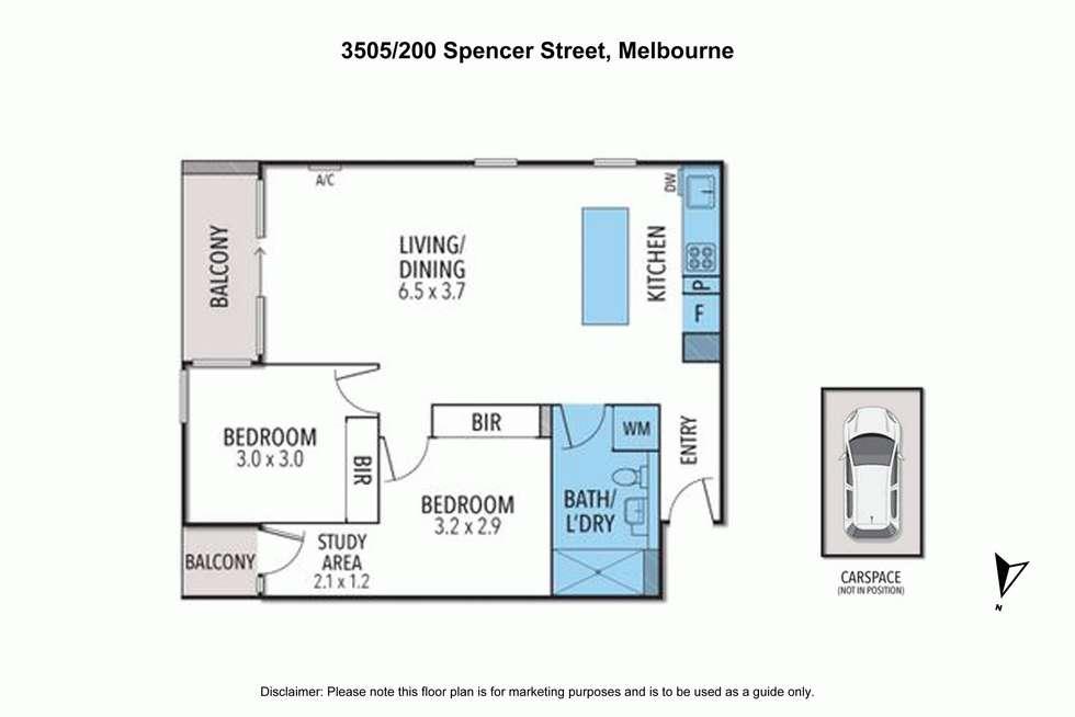 Floorplan of Homely apartment listing, 3505/200 SPENCER STREET, Melbourne VIC 3000