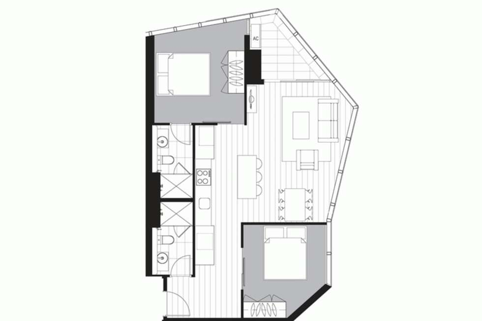 Floorplan of Homely apartment listing, 5111/33 ROSE LANE, Melbourne VIC 3000