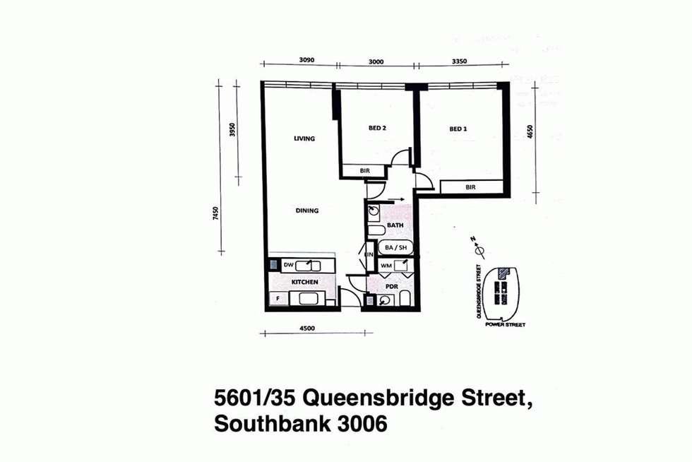 Floorplan of Homely apartment listing, 5601/35 QUEENSBRIDGE STREET, Southbank VIC 3006