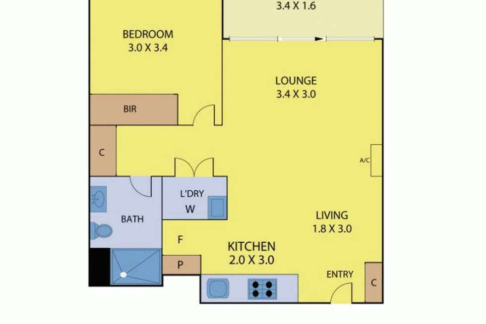 Floorplan of Homely apartment listing, 603W/888 COLLINS STREET, Docklands VIC 3008