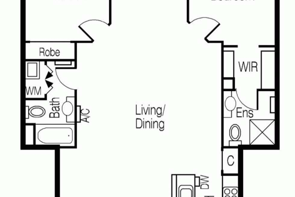 Floorplan of Homely apartment listing, 2607/668 BOURKE STREET, Melbourne VIC 3000
