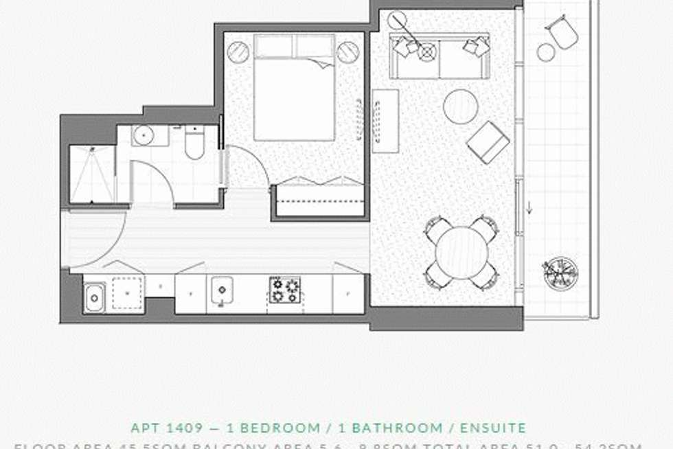 Floorplan of Homely apartment listing, 1409/35 ALBERT ROAD, Melbourne VIC 3004