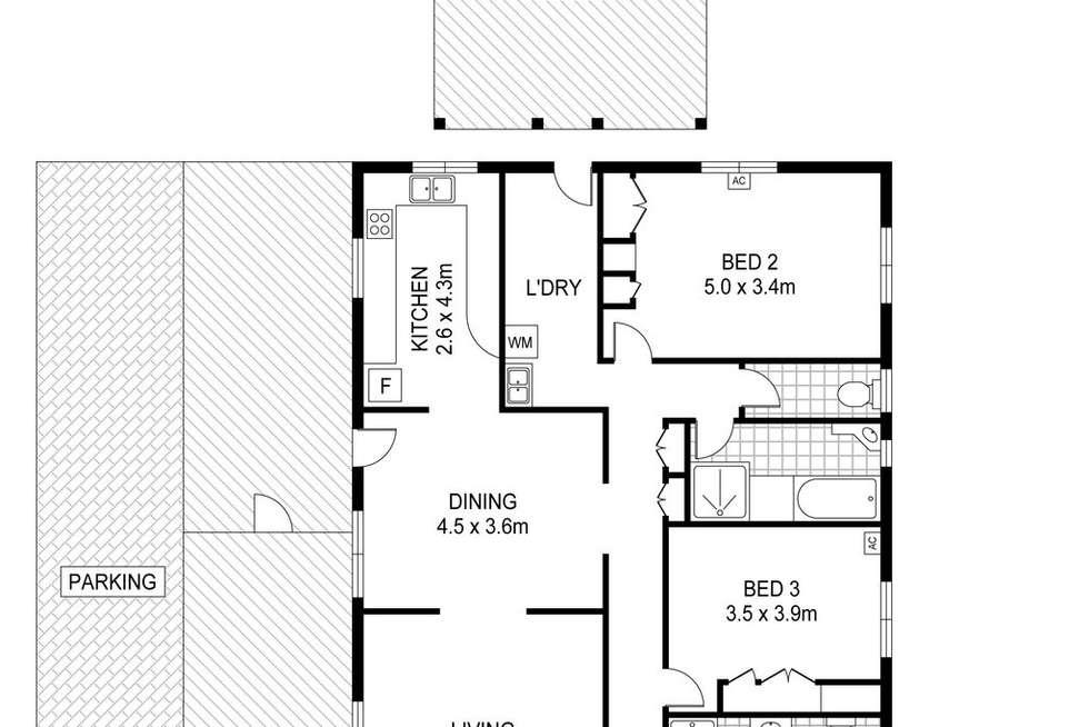 Floorplan of Homely house listing, 12 Kybra Court, Karama NT 812