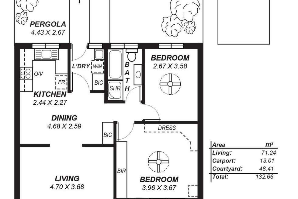 Floorplan of Homely unit listing, 5/18 Riddell Road, Holden Hill SA 5088