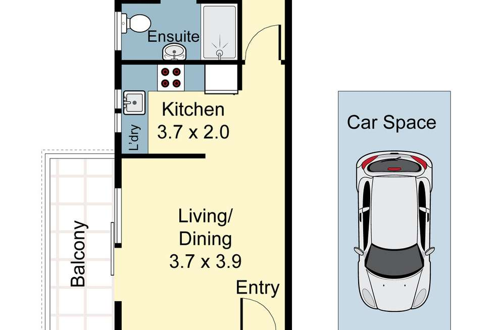Floorplan of Homely apartment listing, 17/516 New Canterbury Road, Dulwich Hill NSW 2203