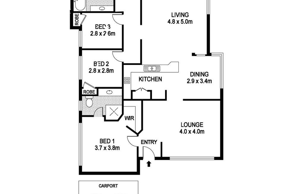 Floorplan of Homely house listing, 20 Griffin Crescent, Manning WA 6152