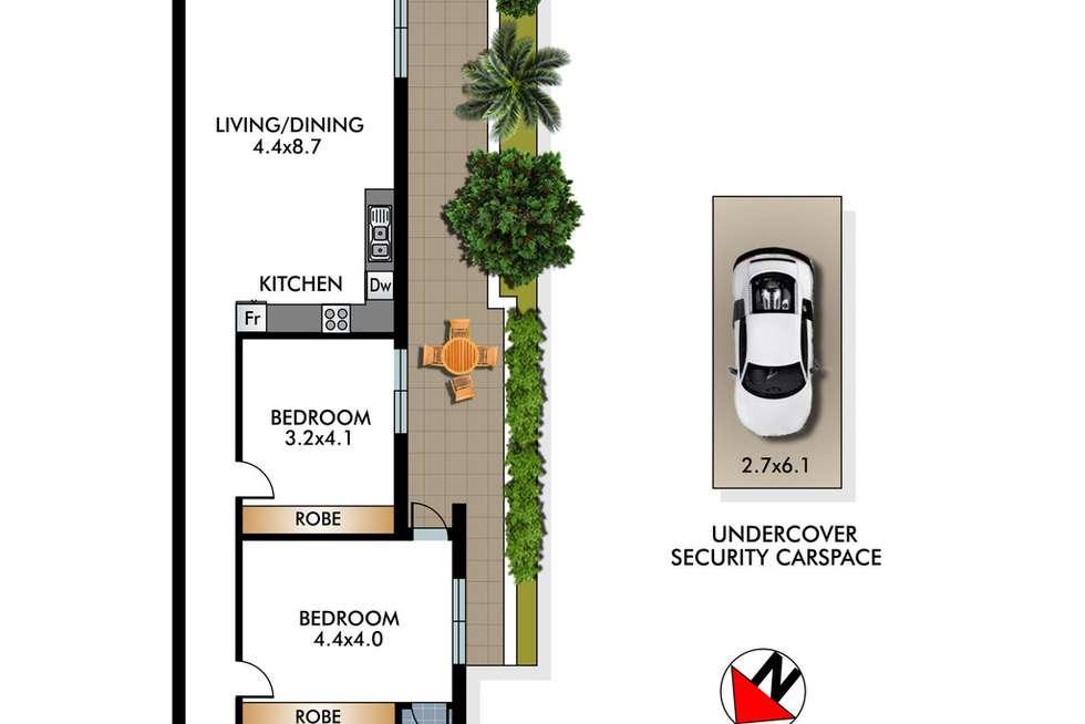 Floorplan of Homely apartment listing, 1/53 Birriga Road, Bellevue Hill NSW 2023