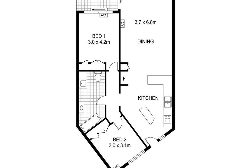 Floorplan of Homely unit listing, 7/18 Houston Street, Larrakeyah NT 820