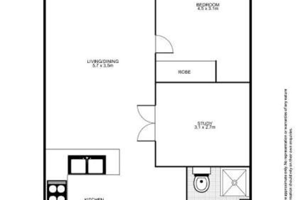 Floorplan of Homely apartment listing, 136/298-304 SUSSEX STREET, Sydney NSW 2000