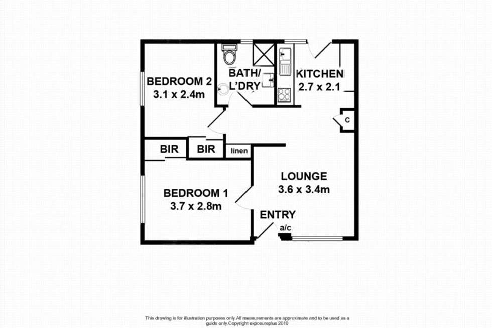 Floorplan of Homely unit listing, 1/49 Duthy Street, Malvern SA 5061