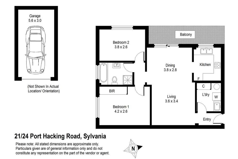 Floorplan of Homely unit listing, 21/24 Port Hacking Road, Sylvania NSW 2224