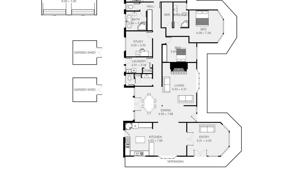Floorplan of Homely house listing, 17 Panorama Road, Blackstone Heights TAS 7250
