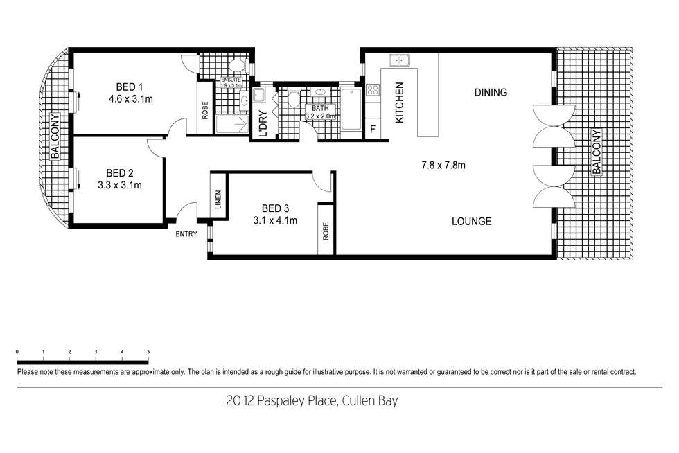 Floorplan of Homely apartment listing, 20/12 Paspaley Place, Larrakeyah NT 820