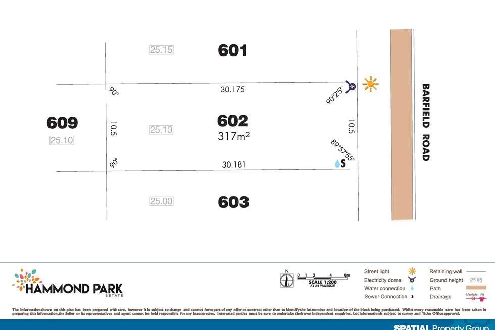 Floorplan of Homely residentialLand listing, Lot 602 Barfield Rd, Hammond Park WA 6164