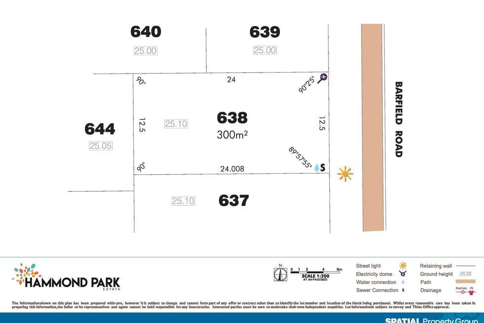 Floorplan of Homely residentialLand listing, Lot 638 Barfield Rd, Hammond Park WA 6164