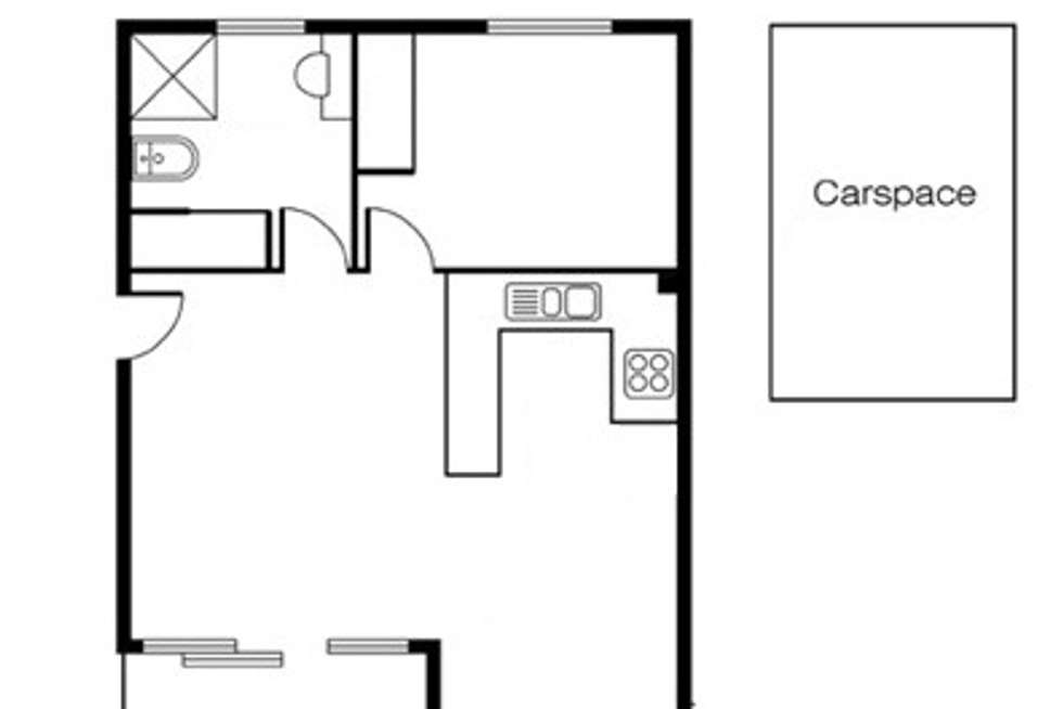 Floorplan of Homely unit listing, 1/7 Warley Road, Malvern East VIC 3145