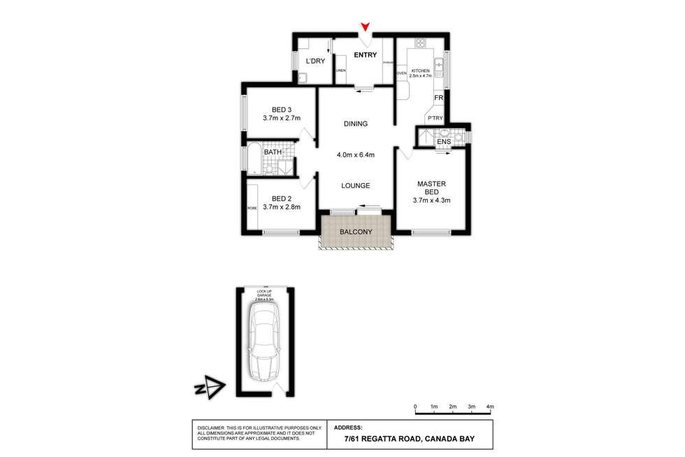 Floorplan of Homely apartment listing, 7/61 REGATTA ROAD, Canada Bay NSW 2046