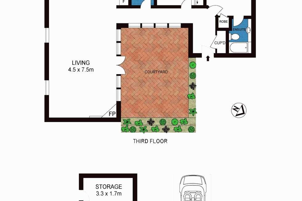 Floorplan of Homely apartment listing, 31/30 La Trobe Street, Melbourne VIC 3000
