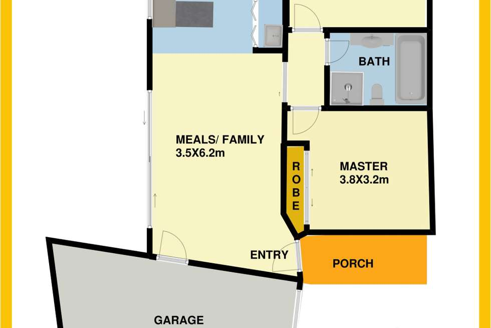 Floorplan of Homely unit listing, 3/80 Maher Road, Laverton VIC 3028