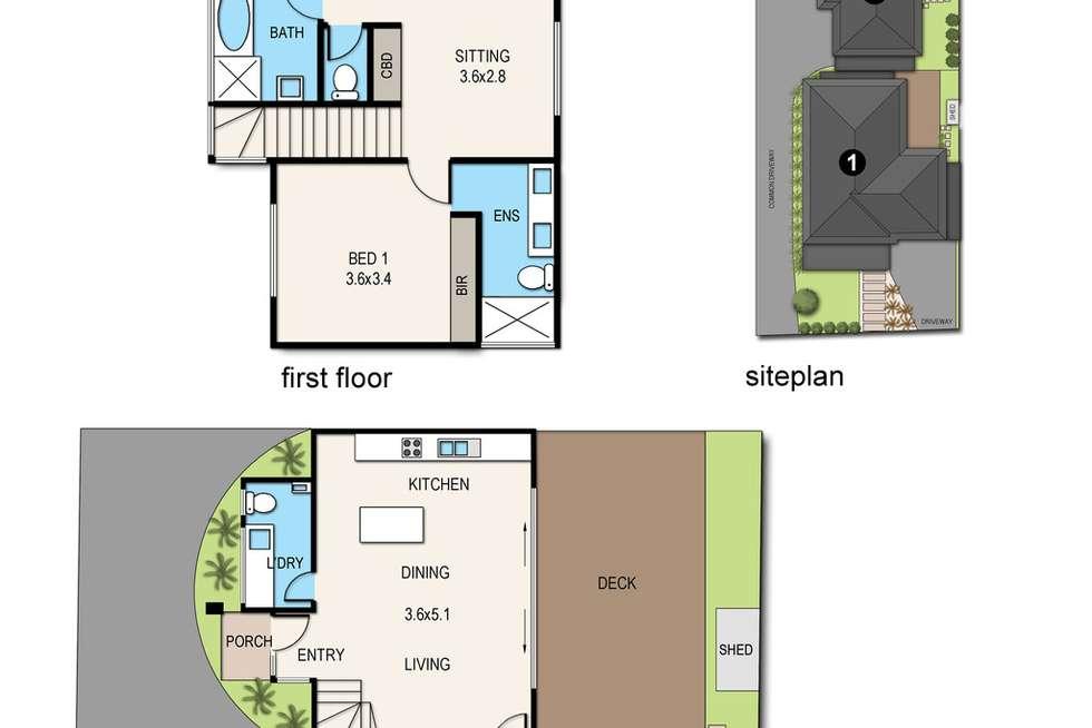 Floorplan of Homely townhouse listing, 2/10 Ivan Avenue, Edithvale VIC 3196