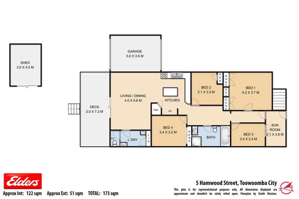 Floorplan of Homely house listing, 5 Hamwood Street, Toowoomba City QLD 4350