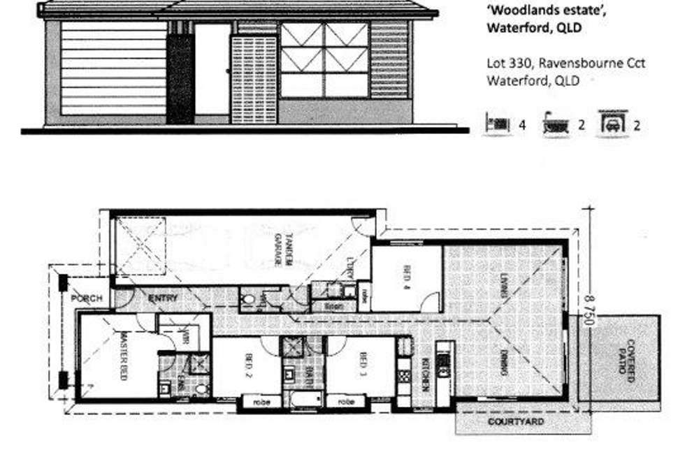 Floorplan of Homely house listing, 27 Ravensbourne Circuit, Waterford QLD 4133