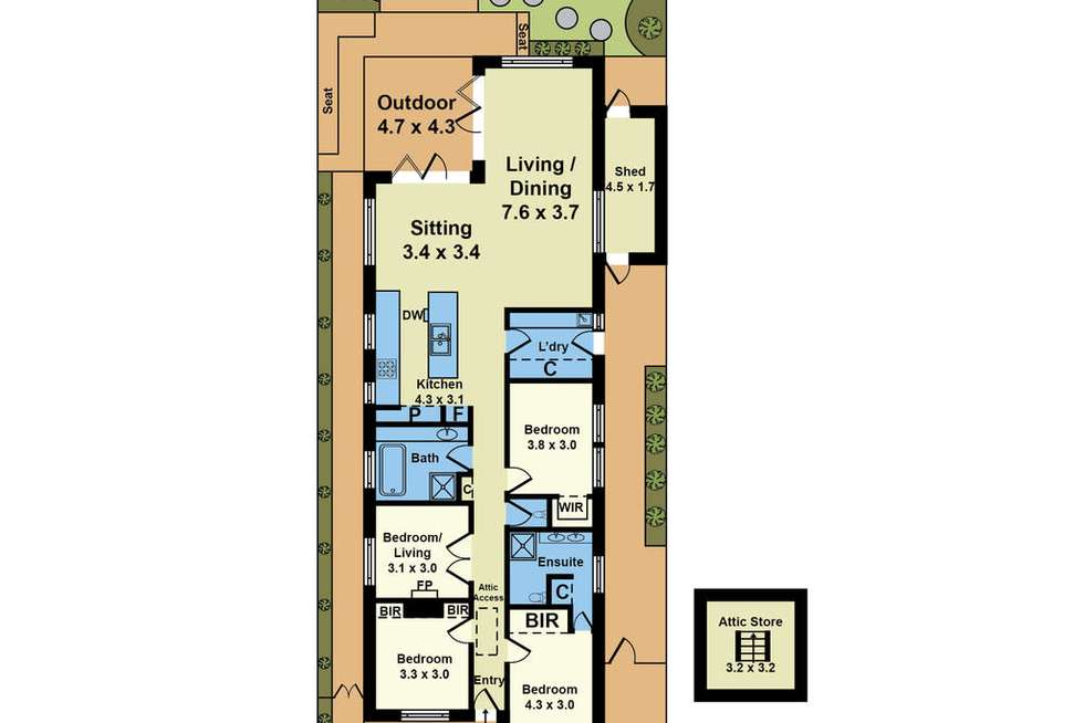 Floorplan of Homely house listing, 7 Paine St, Newport VIC 3015