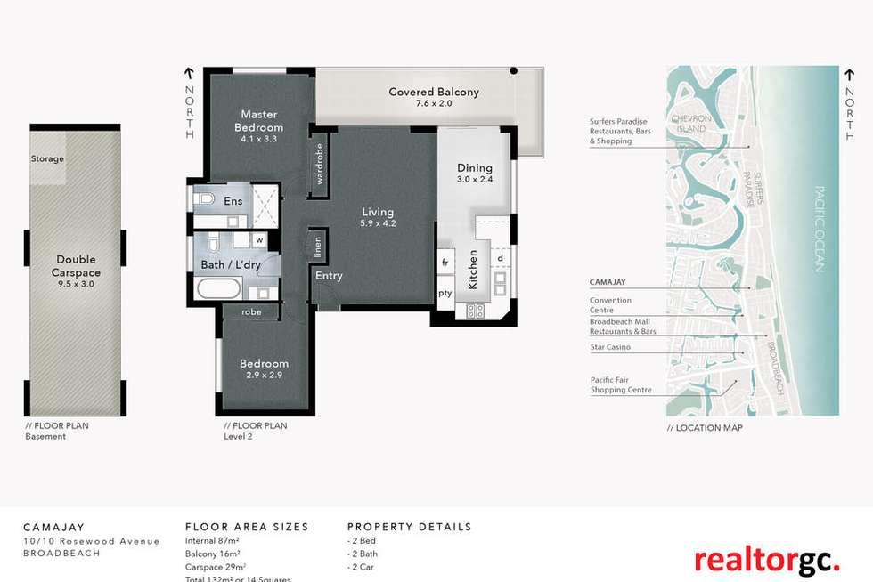 Floorplan of Homely unit listing, 10/8-10 Rosewood Avenue, Broadbeach QLD 4218
