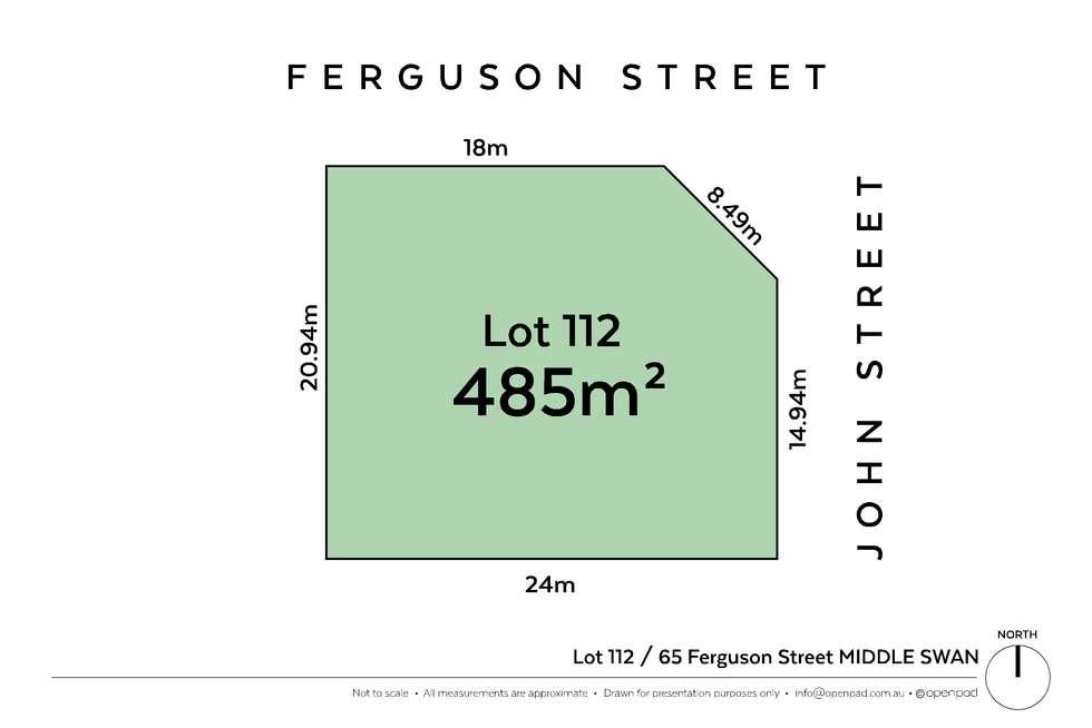 Floorplan of Homely residentialLand listing, 38 Ferguson Street, Middle Swan WA 6056