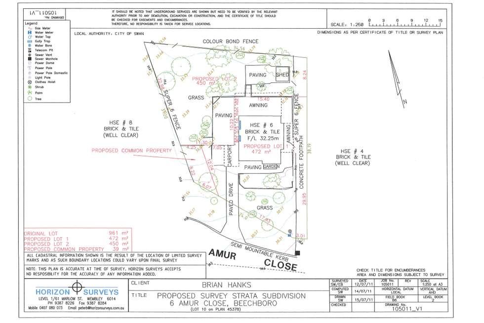 Floorplan of Homely house listing, 6 Amur Close, Beechboro WA 6063