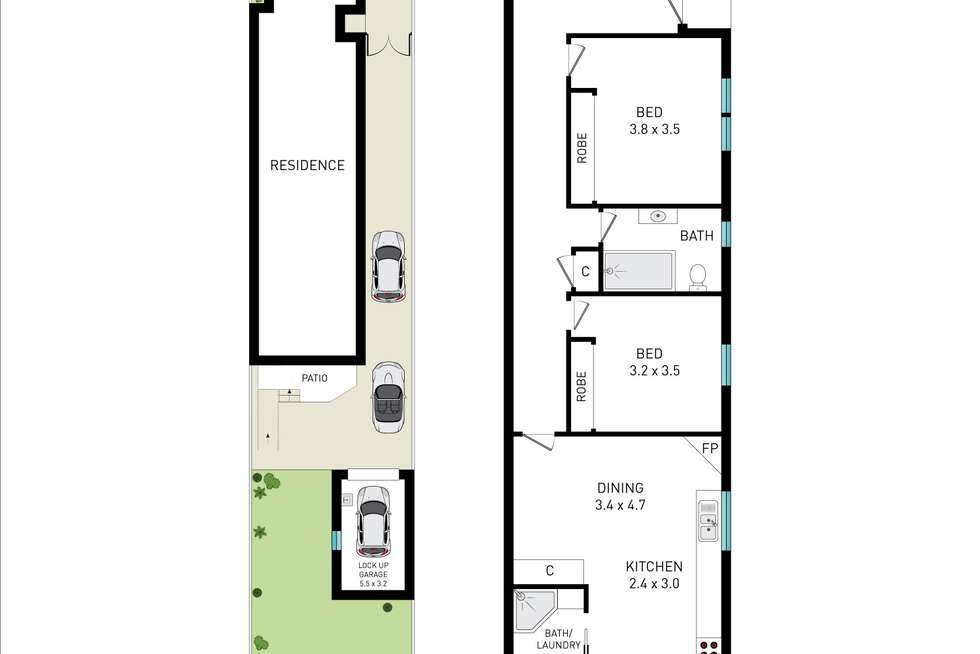 Floorplan of Homely semiDetached listing, 34A The Grand Parade, Brighton-le-sands NSW 2216