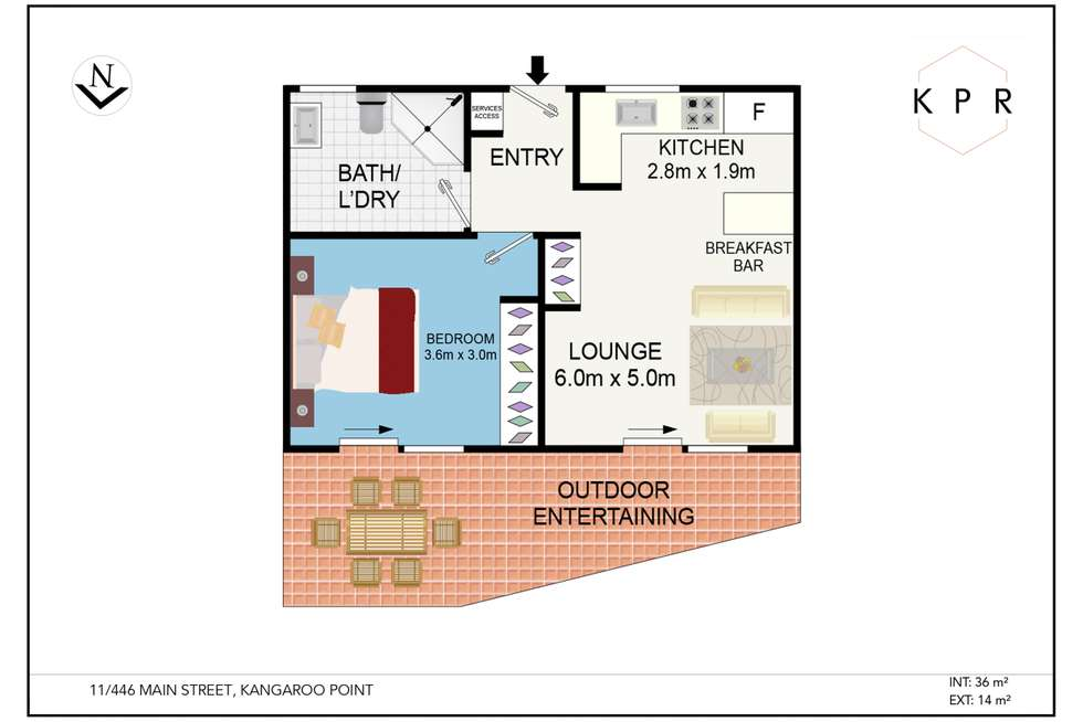 Floorplan of Homely apartment listing, 446 Main Street, Kangaroo Point QLD 4169