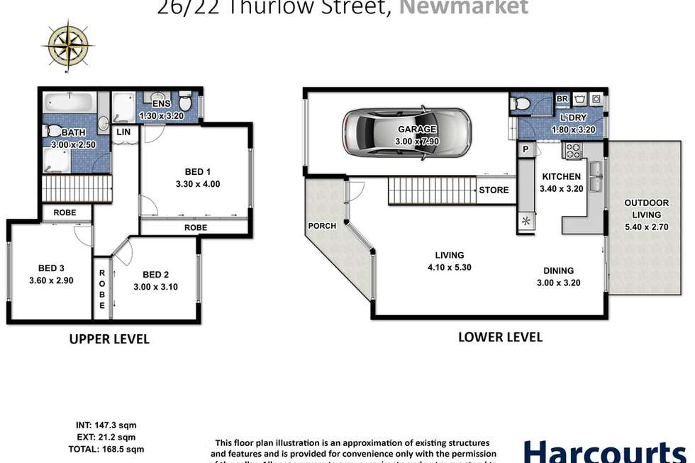 Floorplan of Homely unit listing, 26/22 Thurlow Street, Newmarket QLD 4051